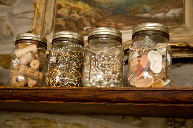 diy wednesday jewelry display with mason jars the